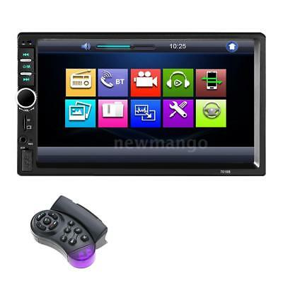 "7"" Double Din HD Car Radio In Dash Stereo Bluetooth AUX Car MP3 MP5 Player R3K0"