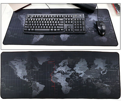 Non-Slip World Map Game Mouse Pad Mat Fit For Laptop Computer Keyboard 40x90cm