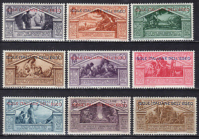 """Greece Italy Dodecanese 1930 """"virgil"""" Set Mnh Signed Upon Request"""