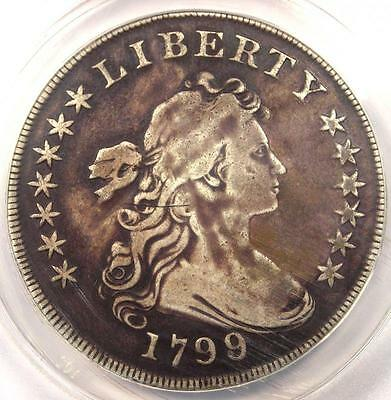 1799/8 Draped Bust Silver Dollar $1 - Certified ANACS F15 Details - Rare Coin!