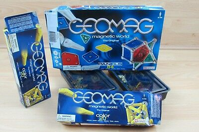 GEOMAG Magnet Sticks Rods Spheres Panels Magnetic World Color Original Bundle