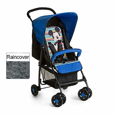 Hauck Mickey Geo Blue Lightweight Baby Sport Pushchair Stroller With Raincover