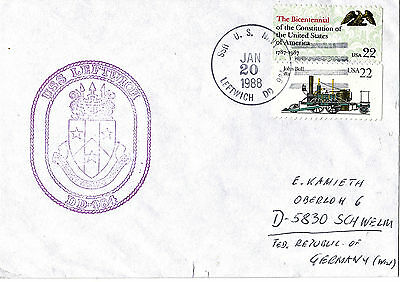 1988 Uss Leftwich Dd 984 Destroyer Naval Cached Cover