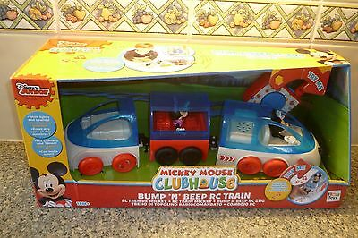 New Disney Mickey Mouse Clubhouse Bump 'n' Beep RC Train Toy Playset Age 18m+
