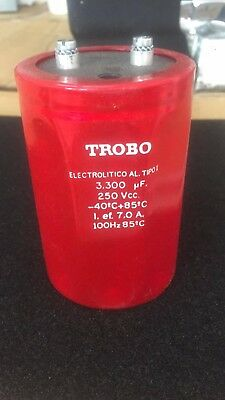 TROBO 3300 UF 250 VCC 100 Hz CAN CAPACITOR SCREW TERMINALS Electrolytic