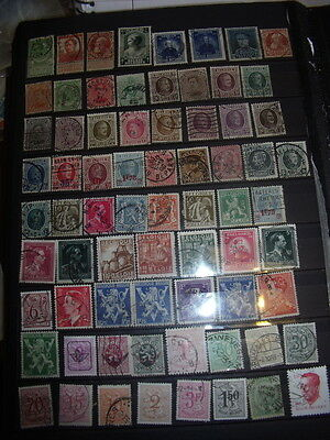 Belgium Stamps Lot 1 X 163 Used (Mostly) Stamps All Scanned Below The Written De