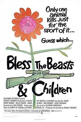 1970s Bless the Beasts and Children replica movie poster fridge magnet - new!