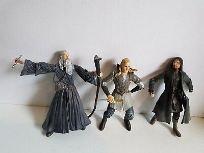 Vintage Lord of the Rings 2001 Action Figure Figurine Lot Marvel Ent.