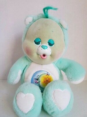 Vintage Care Bear 1986 Bedtime Bear Cub Baby 10.5 Inches Stuffed Plush 1980s Toy
