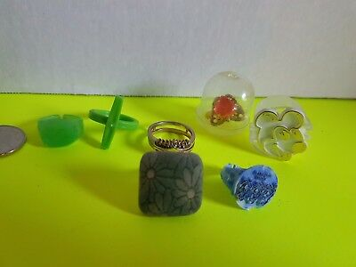 Vintage Lot of Cracker Jack Bubble Gum Machine Small Toys Plastic Metal Rings