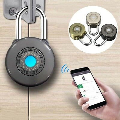 Wireless Waterproof Bluetooth Smart Lock APP Control Security Anti Theft Padlock