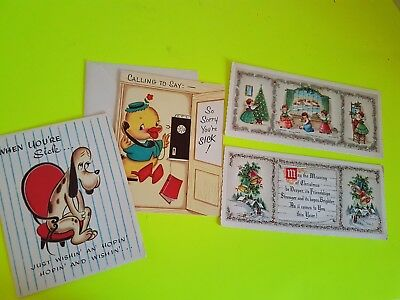 Vtg Lot of Greeting Cards Kids Get Well soon and Christmas