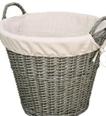 Versailles Wicker Log Basket FIRE WOOD LOG STORAGE BASKET large