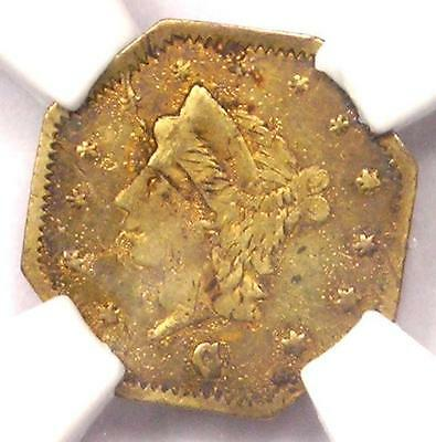 1867 Liberty 25C California Gold Quarter BG-742 R7. NGC UNC (BU MS) - Rarity-7!