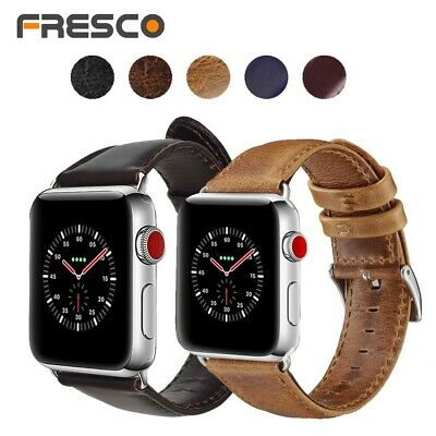 100% Genuine Leather Band Strap for Apple Watch Series 1/2/3/4 38/42 40/44 mm
