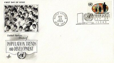 United Nations 1965 1965 Population Trends & Development First Day Cover