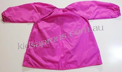 Kids art smock pink size fits 4 to 8 yrs Good quality nylon,painting,waterproof