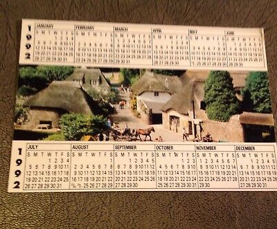 1992 Calendar Postcard Cockington Devon