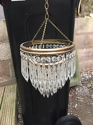 Edwardian Mini Glass Chandelier