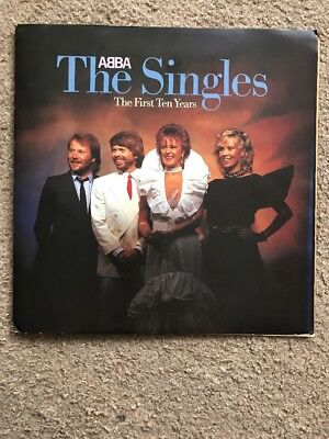 ABBA - The Singles, The First Ten Years 12inch Double LP With Promo Pack