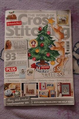The World of Cross Stitching Issue 261 2017 inc Margaret Sherry Gingerbread