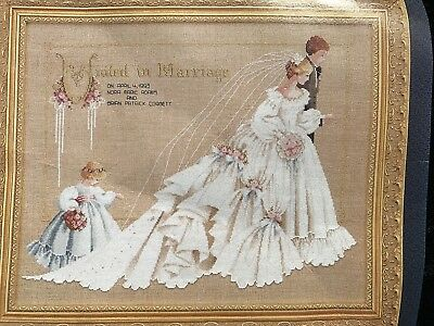Lavender & Lace Part Stitched 'The Wedding' Cross Stitch Picture Kit