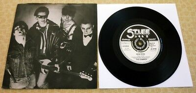The Damned, New Rose/help, 1976 First Issue Stiff Records 45 In Picture Sleeve.