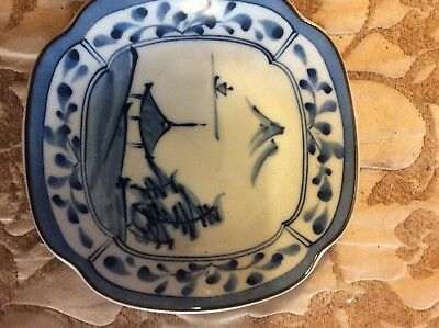Willow Pattern Small Plate Or Dish, Size Of A Saucer