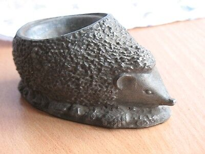 Hedgehog Russian Metal Stacking Porcupine Dishes Ashtray Box Urchin Soviet USSR