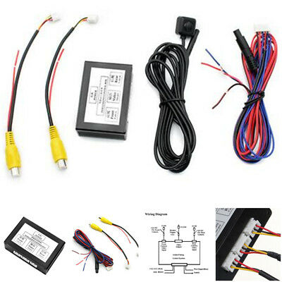 Auto Front/Rear Parking View Camera Video 2 Channel Control Box Converter Kits