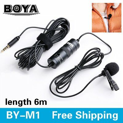 BOYA BY-M1 Lavalier Clip Microphone for Samsung HTC iPhone Nikon DSLR Camera PY