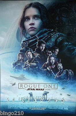 Rogue One A Star Wars Story Original 2016 Cinema 1 Sheet Poster Felicity Jones