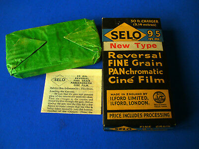 9.5mm Cine SELO reversal film 30ft unused in box (OUT OF DATE)