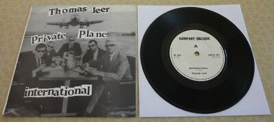 Thomas Leer, Private Plane/international, 1978 Company Oblique 45 In P/sleeve.