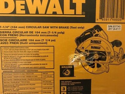 DeWalt 20V Max 7‑1/4 in. Cordless Circular Saw (Tool Only) DCS570B