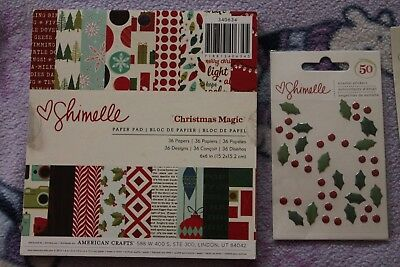 Shimelle Laine and American Crafts Scrapbooking Mini Bundle Christmas