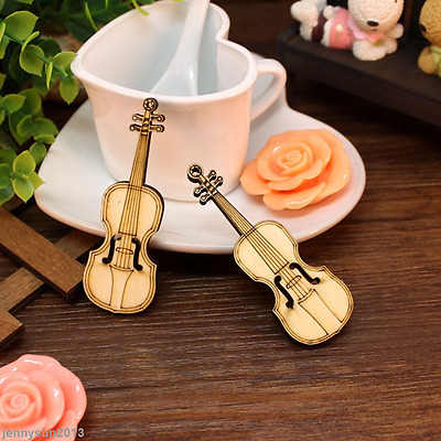Antique Mini Wooden Violin Kids Toy Picture Props Home Table Decor DIY Crafts