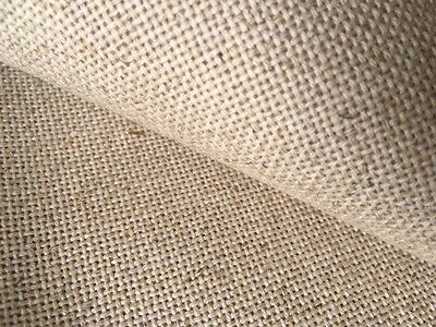 Natural Oatmeal 18 count Zweigart Floba Linen mix evenweave fabric 100 x 140 cm