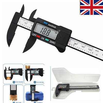 "6"" 150mm Digital Vernier Caliper Micrometer LCD Measuring Gauge Tool w/ Case UK"
