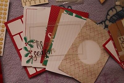 Mixed Stampin' Up! Project Life Christmas Scrapbooking Cards + Embellishments