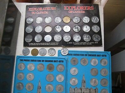 57 lot of vintage shell gas company coins 1970-1980's prime minister's explorers