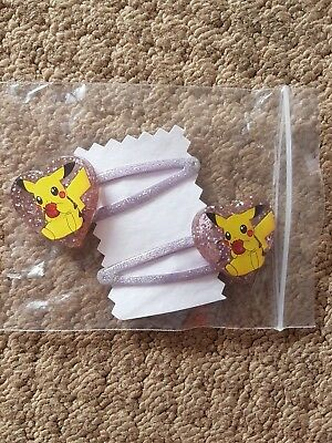 Girls Pokemon Pikachu hair chips - purple BN
