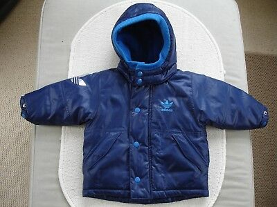Baby Boys Blue Coat Age 3-6 months- Adidas