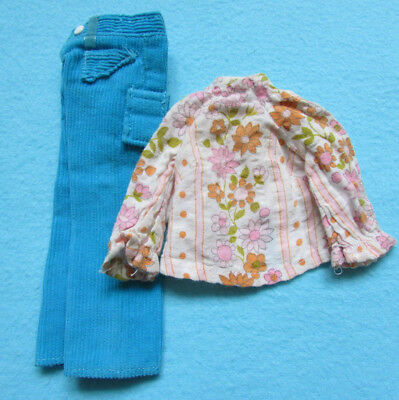 Fab Rare Vintage Pedigree 1971 Sindy Doll Clothes *casual Cords* + Retro Blouse