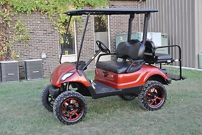 2014 CUSTOM PAINTED YAMAHA DRIVE GAS LIFTED  GOLF CART   Shipping Available