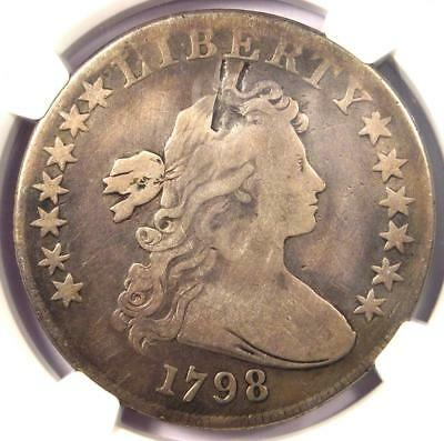 1798 Draped Bust Silver Dollar $1 10 Arrows - NGC VG Details - Rare Coin!