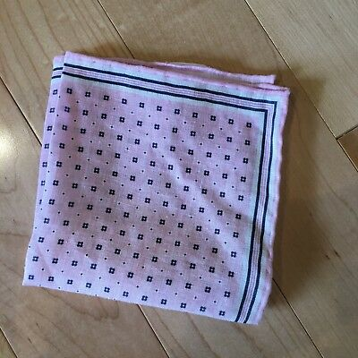 Nwot J Crew Italian Linen Pocket Square In Liberty Floral Dot Pink