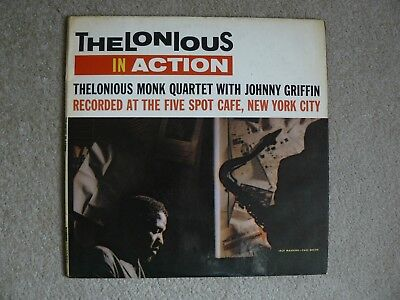Thelonious Monk In Action Uk Riverside Lp Vg/vg Jazz