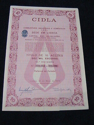 CIDLA Industrial and domestic fuel - ten share certified 1973