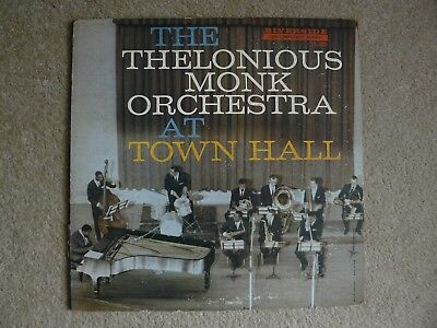 Thelonious Monk Orchestra At Town Hall Uk Riverside Lp P/vg Jazz